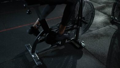 An exercise bike is great for a healthy lifestyle.